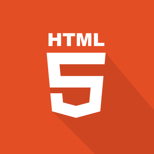 front-end, html, long shadow, markup language, technologies, web, web technology icon