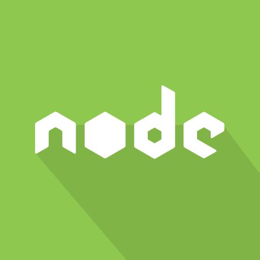 javascrpt, js, library, long shadow, nodejs, web icon
