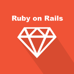 back-end, long shadow, programming language, rails, ruby, web, web technology icon