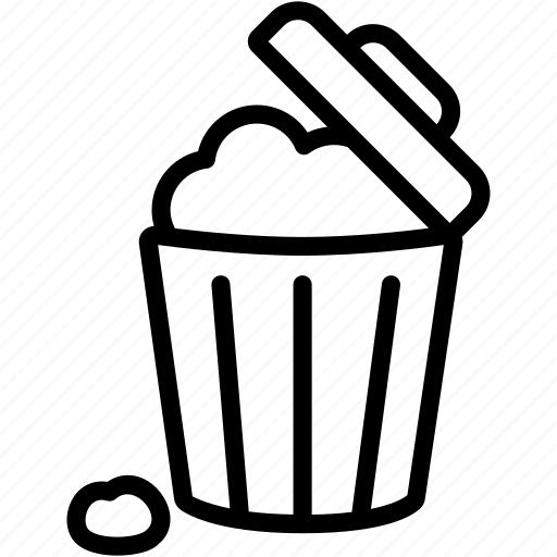 delete, dustbin, erase, garbage, recycle, remove, trashcan icon