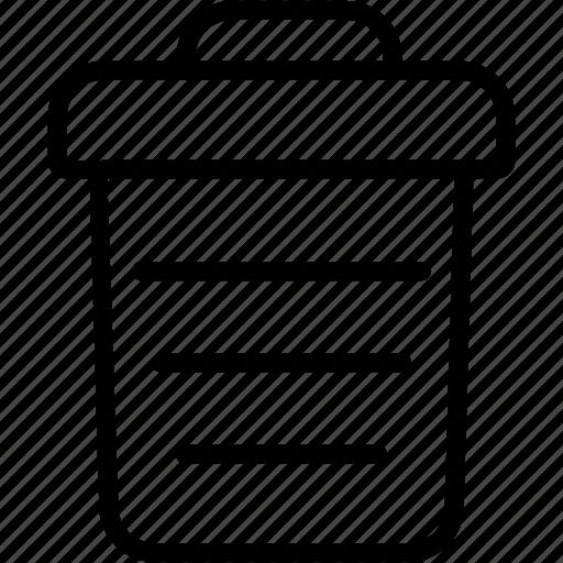 delete, dustbin, erase, garbage, recycle, remove, trashcan icon
