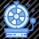 casino, entertainment, machine, wheel icon