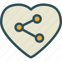 connection, heart, love, romance icon