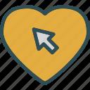 cursor, heart, love, romance