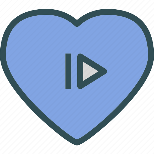heart, love, romance, skip icon