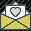 envelope, heart, love, romance