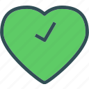 checkok, heart, love, romance icon
