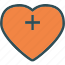 heart, love, plus, romance icon