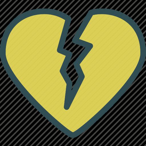 break, heart, love, romance icon