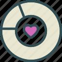 chart, heart, love, romance icon