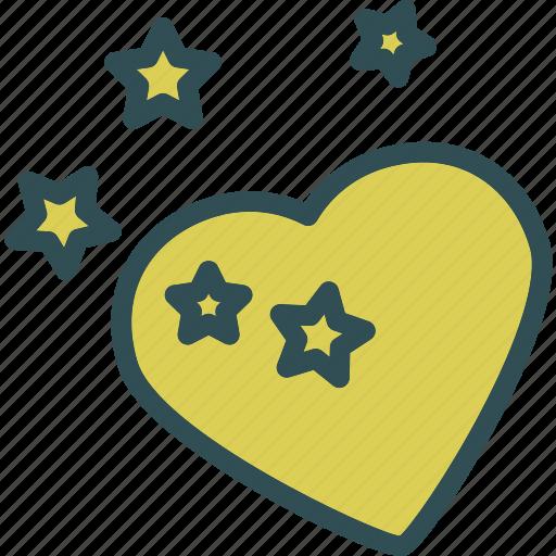 heart, love, romance, stars icon