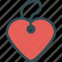 heart, love, pendant, romance