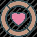 coin, heart, love, romance