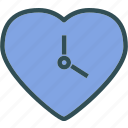 clock, heart, love, romance