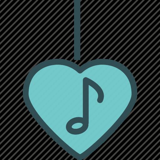 heart, love, musicnote, romance icon