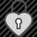 heart, lock, love, romance icon