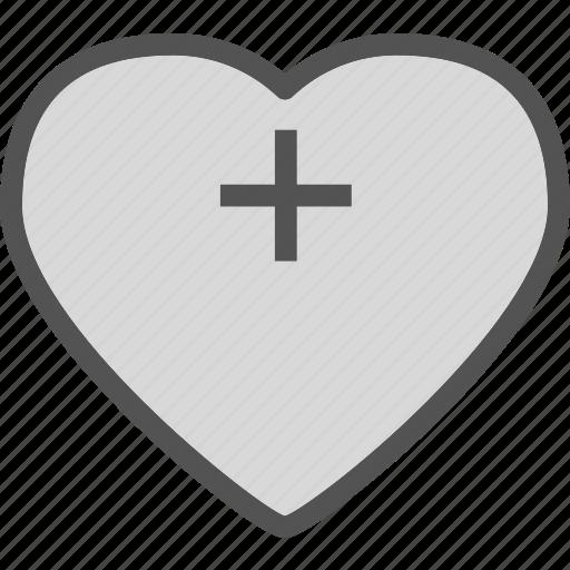 heart, love, plus, romance icon