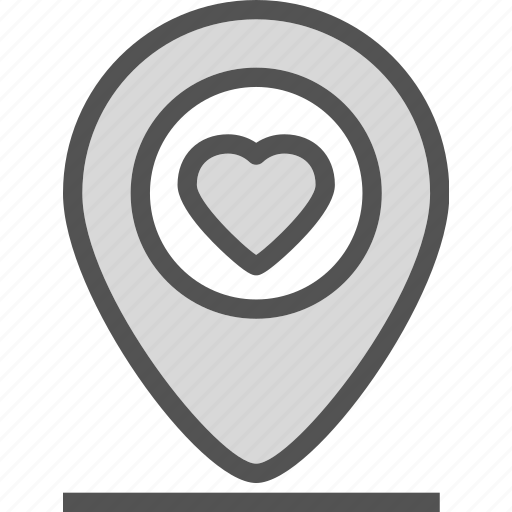 heart, love, pinpoint, romance icon