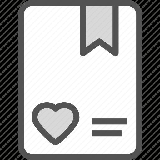 agenda, heart, love, romance icon