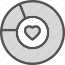 chart, heart, love, romance icon