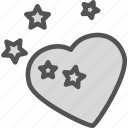 heart, love, romance, stars icon