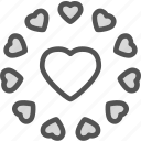 circle, heart, love, romance