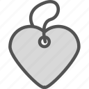 heart, love, pendant, romance icon