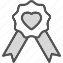 heart, love, ribbon, romance icon
