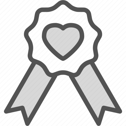 heart, love, ribbon, romance icon