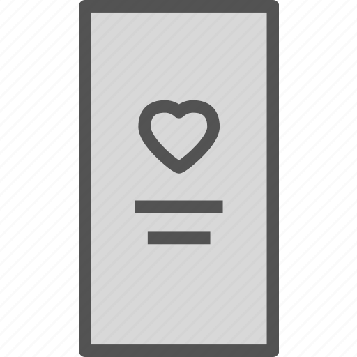 heart, love, profile, romance icon