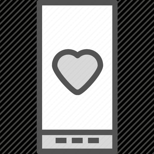 heart, love, romance, smartphone icon