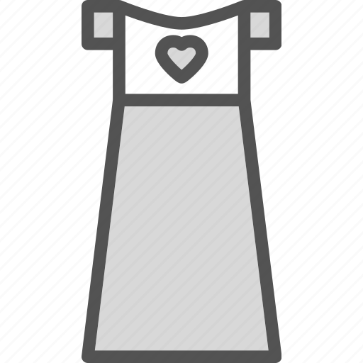 dress, heart, love, romance icon