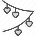 banner, heart, love, romance icon