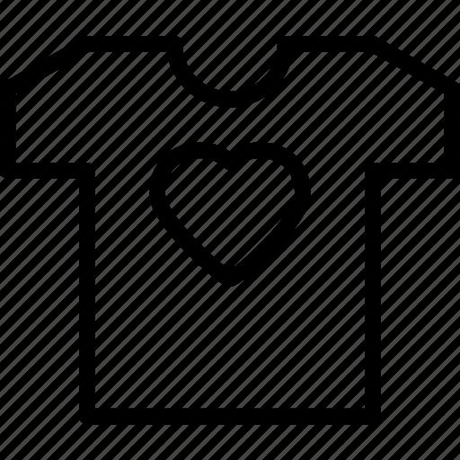 heart, love, romance, tshirt icon
