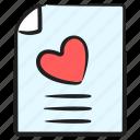 favorite file, love letter, love report, romantic letter, wedding invitation