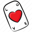 heart card, indoor game, love card, love game, poker card icon