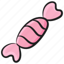 bonbon, confectionery, sweet, toffee, wrapped candy icon