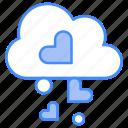 cloud, heart, love, romance