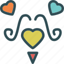 heart, love, mustache, romance icon