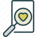 heart, love, romance, search