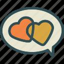 chat, heart, love, romance