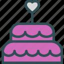 bride, cake, mariage, wedding