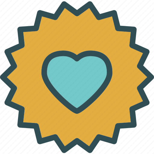 heart, love, romance, sun icon