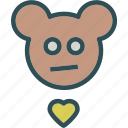 heart, love, romance, teddybear icon