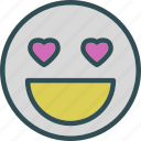 emoticon, heart, love, romance icon