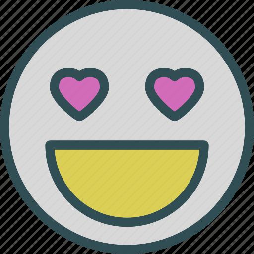 emoticon, heart, love, romance icon