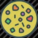 heart, love, pizza, romance