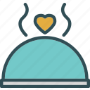 dishdome, heart, love, romance icon