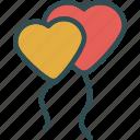 balloons, heart, love, romance
