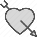 bow, heart, love, romance, rrow, shot icon